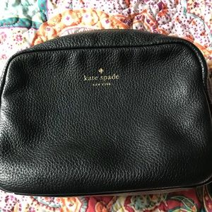 Kate Spade black leather cross body purse.